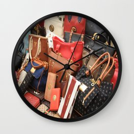 Women's Designer Handbags Wall Clock