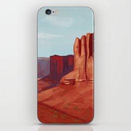 Red Landscape iPhone Skin