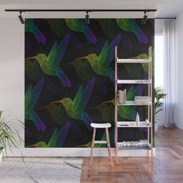 Rainbow Hummingbird Wall Mural
