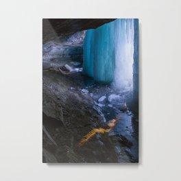 Frozen Curtains of Minnehaha Falls Metal Print