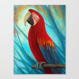 Technicolor Macaw Canvas Print
