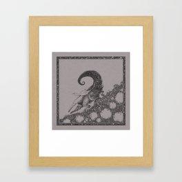 Sweet ride, egret! Framed Art Print