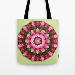 Floral mandala-style, Rose 001.1 Tote Bag