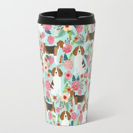 Beagle Floral dog design cute florals beagle phone case beagle pillows Travel Mug