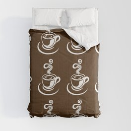 Coffee cups pattern Comforters