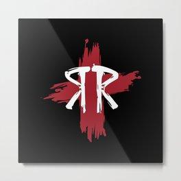 Ric Rac Black Ground Metal Print