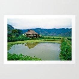 Mountain Village in Vietnam Art Print