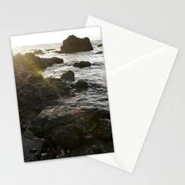 Sun Beam on the Rocks  Stationery Cards
