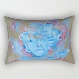 Many Faces Rectangular Pillow