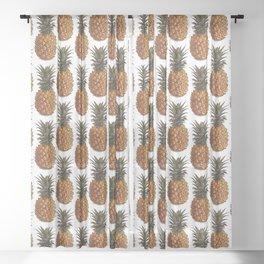 Pineapple Pattern Vector Sheer Curtain