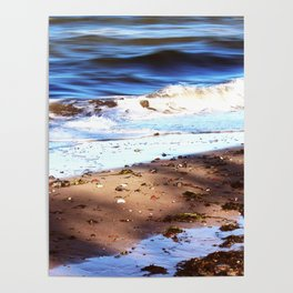 Waves Sand Stones Poster
