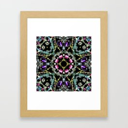 Bling Jewel Kaleidoscope Scanography Framed Art Print