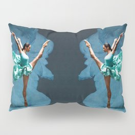 -O1- Blue Ballet Dancer Deep Feelings. Pillow Sham