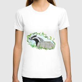European Badger Watercolor T-shirt