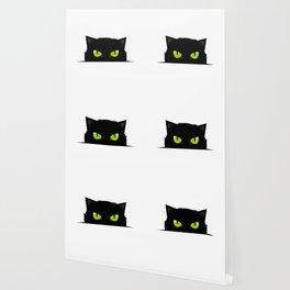 Black cat follow you Wallpaper