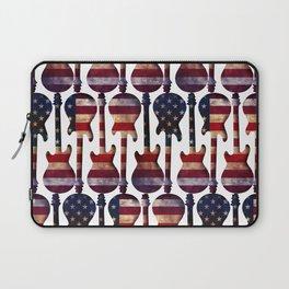American Flag Guitar Art Laptop Sleeve
