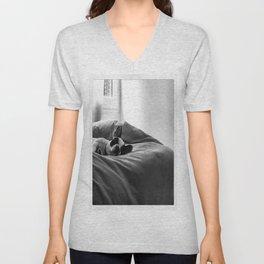 sleeping higgins Unisex V-Neck