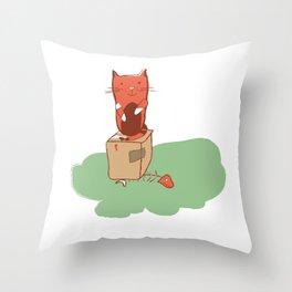 Kitty01 Throw Pillow