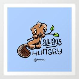 Chuck: Always hungry Art Print