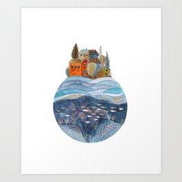 Circular Island Art Print