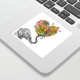 Happy Elephant  Sticker