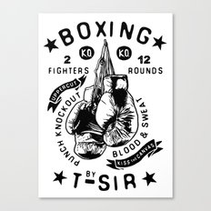 Boxing Canvas Print