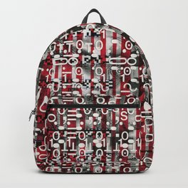 Linear Thinking Trip Switch (P/D3 Glitch Collage Studies) Backpack