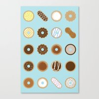 donuts Canvas Prints featuring Donuts by Dorothy Leigh