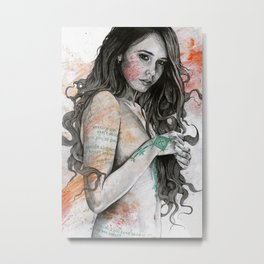 You Lied (nude girl with mandala tattoos) Metal Print