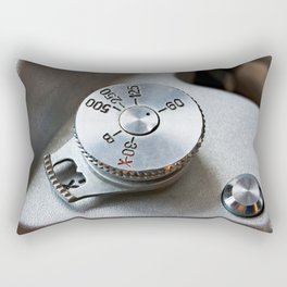 Control dial shutter speed on retro SLR camera Rectangular Pillow