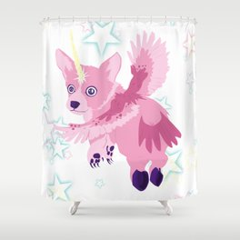 The Terrifying Corgiowlcorn Shower Curtain