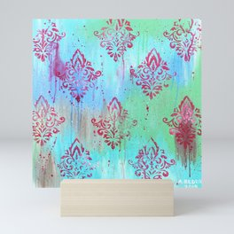 Pink Pattern on Abstract Mini Art Print