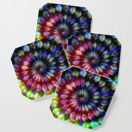 Psychedelic Rainbow Swirl Coaster