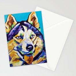 Pop Art Husky Stationery Cards