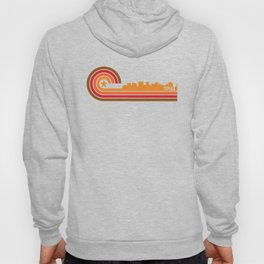 Retro Topeka Kansas Skyline Hoody