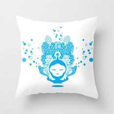 The Silent Monkey Throw Pillow