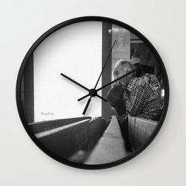 Old Man Waiting Wall Clock