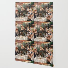 Luncheon of the Boating Party by Renoir Wallpaper