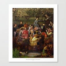 Grida Di Pizarro Nella Riunione Di Famiglia Isabella Canvas Print