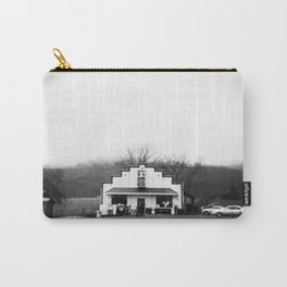 The Sedalia Store in Black and White Film Photograph Carry-All Pouch