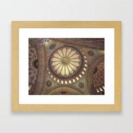 Blue Mosque Interior Istanbul, Turkey Framed Art Print