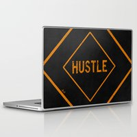 "hustle Laptop & iPad Skins featuring HUSTLE by ""dfrnt"""