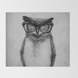 Mr. Owl Throw Blanket