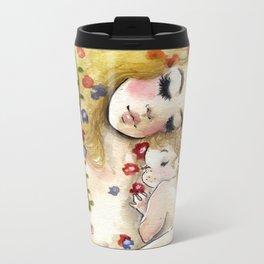 Klimt6 : Mother and Child Metal Travel Mug