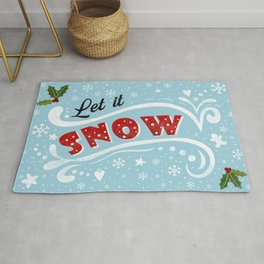 Let it snow - Vintage Christmas Rug