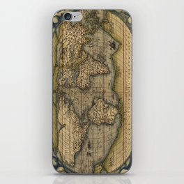 Antique Map of North and South America iPhone Skin