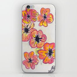 Childhood Series: Poppies (Featuring Specially Enhanced Shirt/Hoodie Design) iPhone Skin