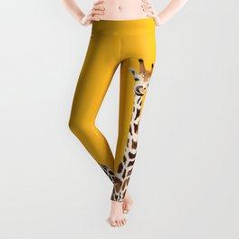 The Nose-picking Giraffe (no fingers needed) Leggings