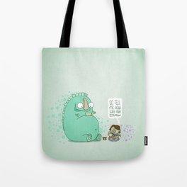 Monster and Tea Tote Bag