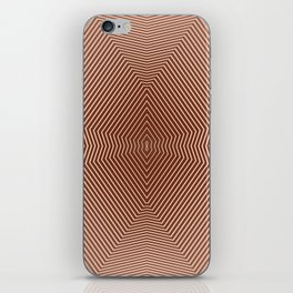 Beautiful brown abstract lines iPhone Skin
